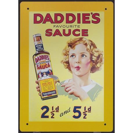 Plaque métal Daddie's Sauce