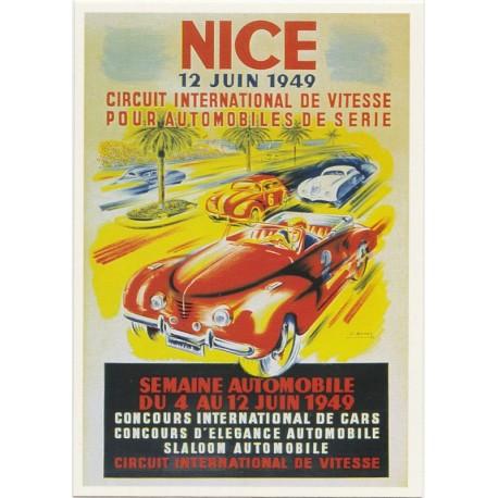 Postcard Semaine Automobile Juin 1949