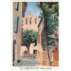 Postcard Le Castellet Village Médiéval