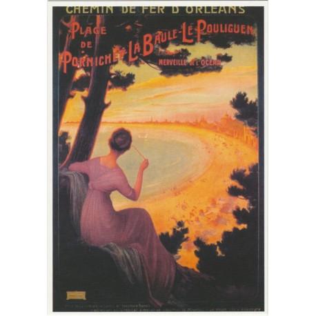 Postcard Chemins de Fer d'Orléans Plage de Pornichet