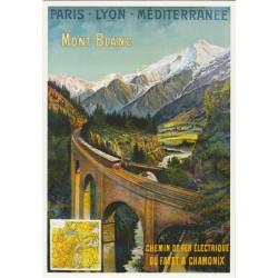 Postcard Chemins de Fer Electrique PLM Mont-Blanc