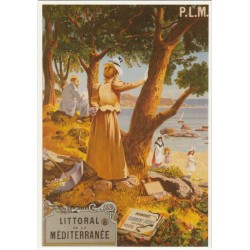 Postcard Littoral de La Méditerranée PLM
