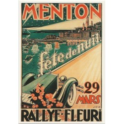 Postcard Menton Rallye Fleuri