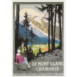 Postcard Ligne Electrique de St Gervais-Les-Bains