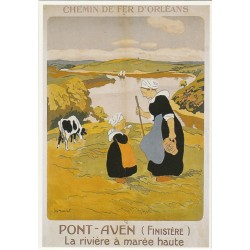 Postcard Chemin de Fer d'Orléans Pont-Aven Finistère