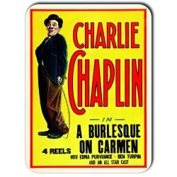 Plaque métal Charlie Chaplin In A Burlesque On Carmen