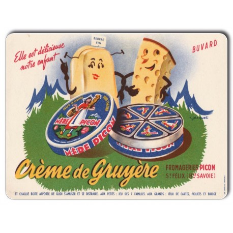 Plaque Aluminium Mère Picon Crème de Gruyère