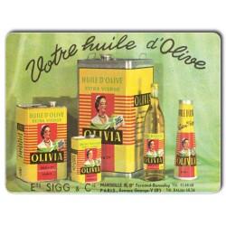 Plaque Aluminium Huile d'Olive Extra Vierge Olivia