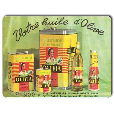 Plaque Aluminium Huile d'OliveExtra Vierge Olivia