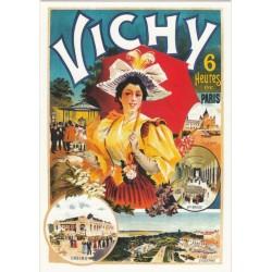 Postcard Vichy 6 heures de Paris