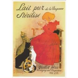 Postcard Lait pur stérilisé de la Vingeanne