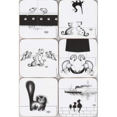 Coasters Cats by Dubout N°3