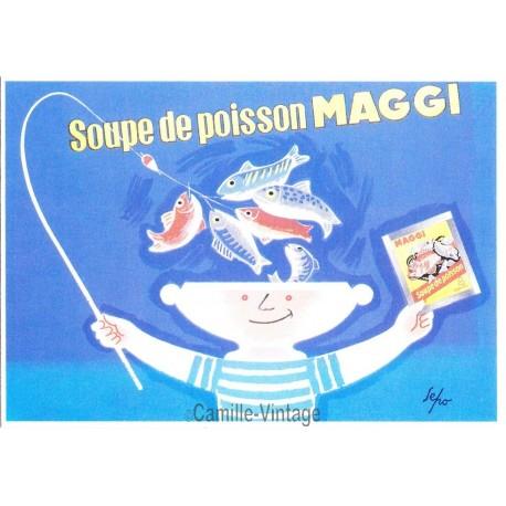 Carte Postale Soupe de poisson Maggi