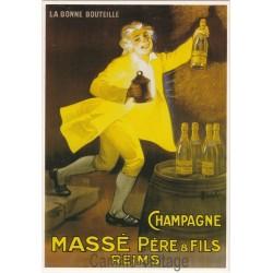 Carte Postale Champagne Massé