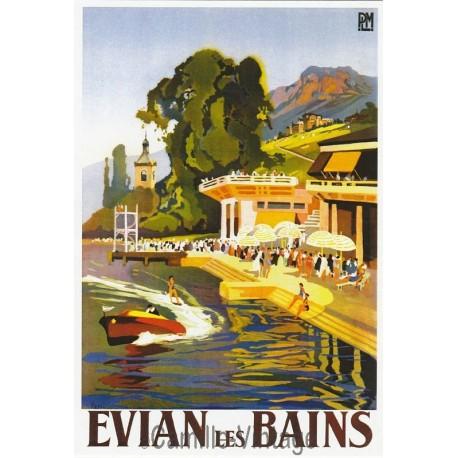 Carte Postale Evian Les Bains PLM