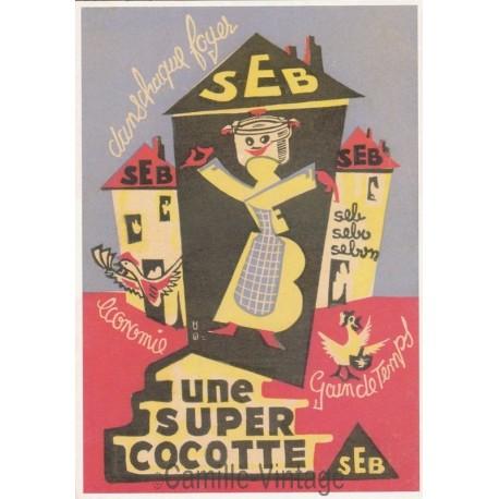 Carte Postale SEB Dans Chaque Foyer Super Cocotte