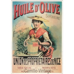 Carte Postale Huile d'Olive Propriétaire de Nice