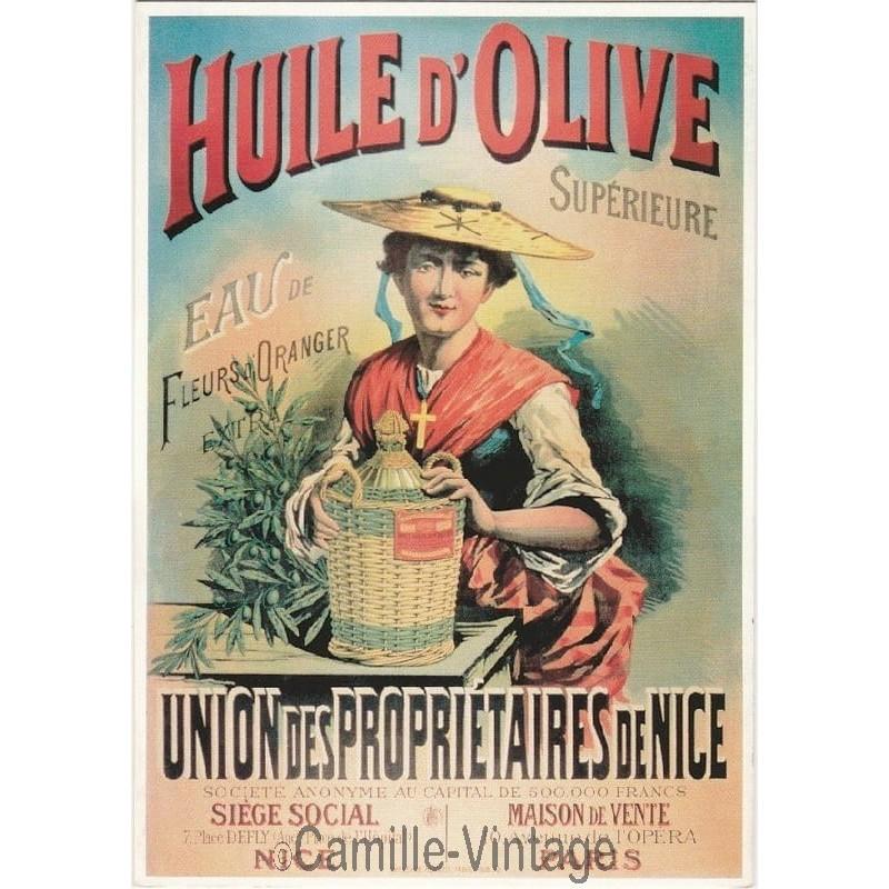 Affiche ancienne publicitaire huile d 39 olive sup rieure for Affiche cuisine retro