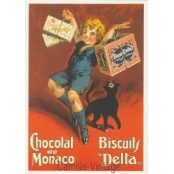 Carte Postale Chocolat de Monaco