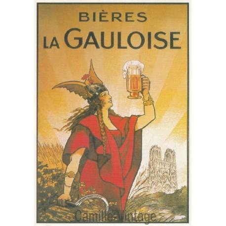 Carte Postale Bières La Gauloise