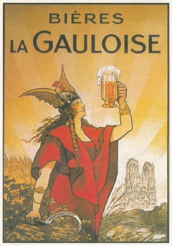Carte Postale Ancienne Francaise Affiche Publicitaire Vintage Bieres La Gauloise