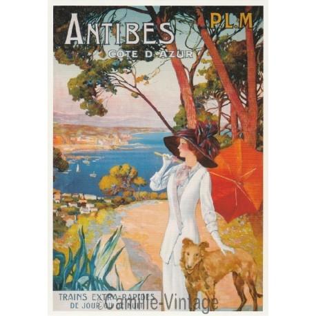 Carte Postale Antibes - Côte d'Azur P.L.M