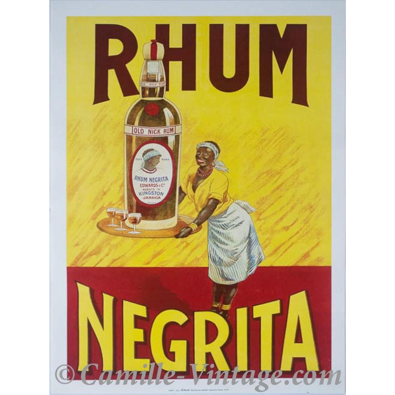 Poster cuisine rhum n grita jama que 30x40cm - Affiche cuisine retro ...