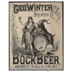 Poster Geo Winter Bière