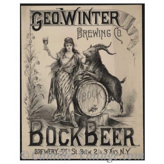 Affiche Geo Winter Bière