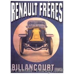 Poster Vintage Renault Frères