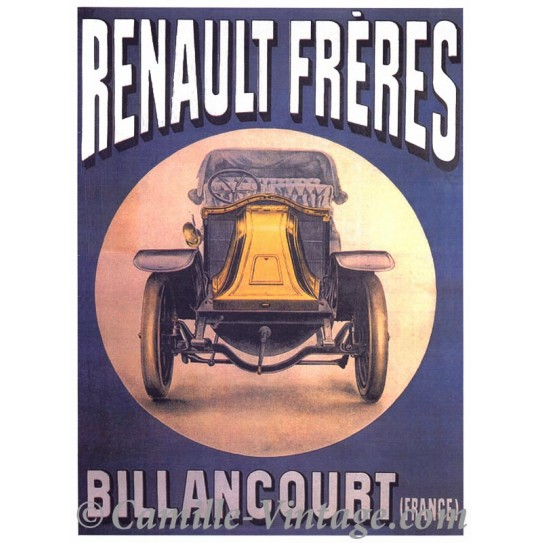 affiche publicitaire affiche fran aise vintage renault fr res. Black Bedroom Furniture Sets. Home Design Ideas