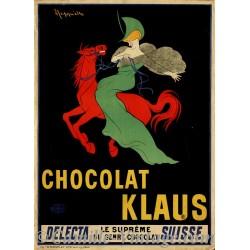 Affiche Chocolat Klaus Suisse