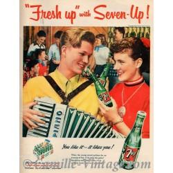 Poster Vintage Fresh-Up Seven-Up