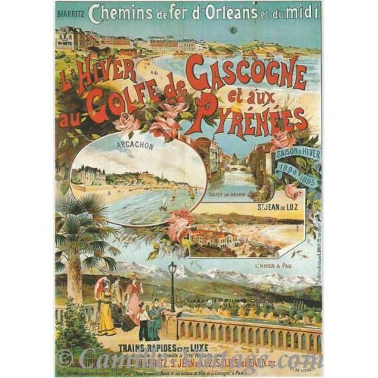Carte Postale Hiver au Golf de Gascogne
